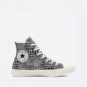 נעלי סניקרס קונברס לנשים Converse Chuck Taylor All Star Hi Digital Daze - שחור/לבן