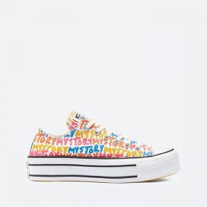 נעלי סניקרס קונברס לנשים Converse Chuck Taylor All Star Platform Low Top My Story - צבעוני