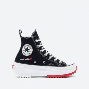 נעלי סניקרס קונברס לנשים Converse Run Star Hike Hi Valentines Day - שחור