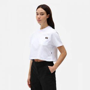 חולצת T Dickies לנשים Dickies SS Porterdale Crop - לבן