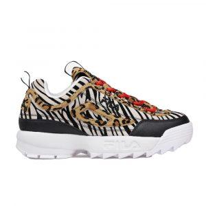 נעלי סניקרס פילה לנשים Fila Disruptor II Animal - צבעוני כהה