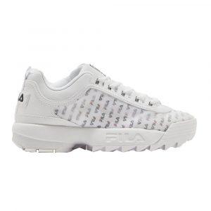 נעלי סניקרס פילה לנשים Fila Disruptor II Clear Logos - לבן