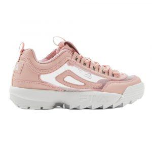 נעלי סניקרס פילה לנשים Fila Disruptor II Clear - ורוד
