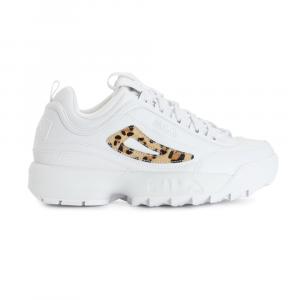 נעלי סניקרס פילה לנשים Fila Disruptor II Leopard - לבן