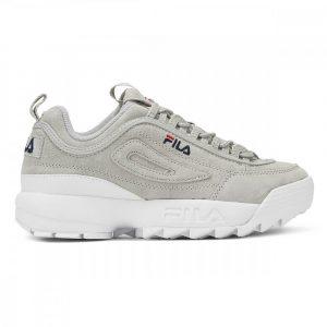 נעלי סניקרס פילה לנשים Fila Disruptor II Premium Suede - אפור