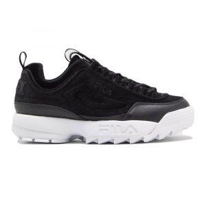 נעלי סניקרס פילה לנשים Fila Disruptor II Premium Velour - שחור