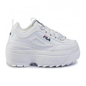 נעלי סניקרס פילה לנשים Fila Disruptor II Wedge - לבן