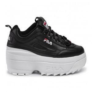 נעלי סניקרס פילה לנשים Fila Disruptor II Wedge - שחור