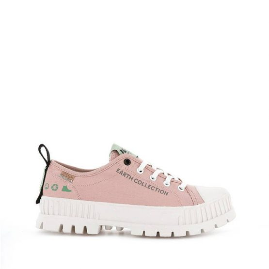 נעלי סניקרס פלדיום לנשים Palladium Pallashock Organic Metro Earth Collection Vegan - ורוד