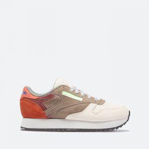 נעלי סניקרס ריבוק לנשים Reebok Classic Leather Ripple - צבעוני