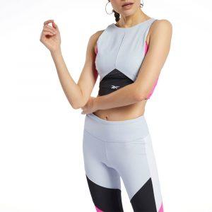 גופיה ריבוק לנשים Reebok Ts Colorblock Crop Top - אפור