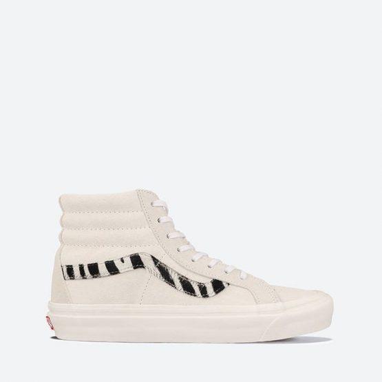 נעלי סניקרס ואנס לנשים Vans SK8-Hi 38 DX - לבן