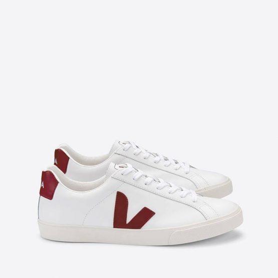 נעלי סניקרס ווג'ה לנשים Veja Esplar Logo Leather - לבן/אדום