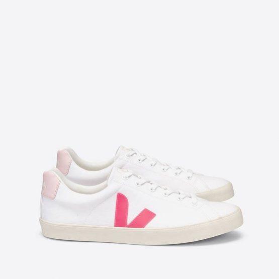 נעלי סניקרס ווג'ה לנשים Veja Esplar-Se Canvas - לבן/ורוד