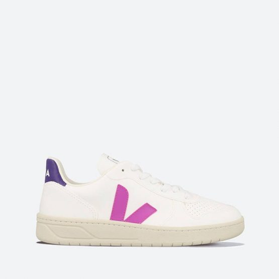 נעלי סניקרס ווג'ה לנשים Veja V-10 CWL - לבן/סגול