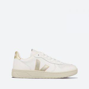 נעלי סניקרס ווג'ה לנשים Veja V-10 Leather - לבן