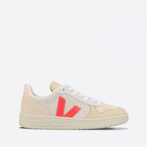 נעלי סניקרס ווג'ה לנשים Veja V-10 Suede - לבן