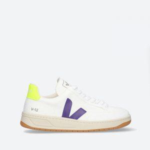 נעלי סניקרס ווג'ה לנשים Veja V-12 B-Mesh - לבן/סגול