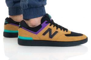 נעלי סניקרס ניו באלאנס לגברים New Balance AM574 - חום