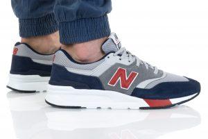 נעלי סניקרס ניו באלאנס לגברים New Balance CM997 - אפור/כחול