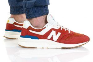 נעלי סניקרס ניו באלאנס לגברים New Balance CM997 - אדום