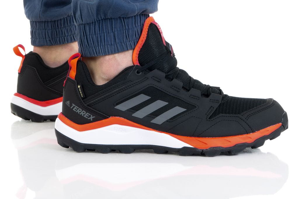 נעלי ריצת שטח אדידס לגברים Adidas TERREX AGRAVIC TR GTX - שחור/כתום