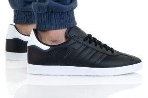 נעלי סניקרס אדידס לגברים Adidas Originals Gazelle - שחור/לבן