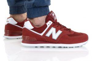 נעלי סניקרס ניו באלאנס לגברים New Balance ML574 - בורדו