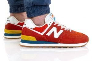 נעלי סניקרס ניו באלאנס לגברים New Balance ML574 - צבעוני בהיר