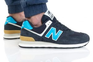 נעלי סניקרס ניו באלאנס לגברים New Balance ML574 - כחול/תכלת