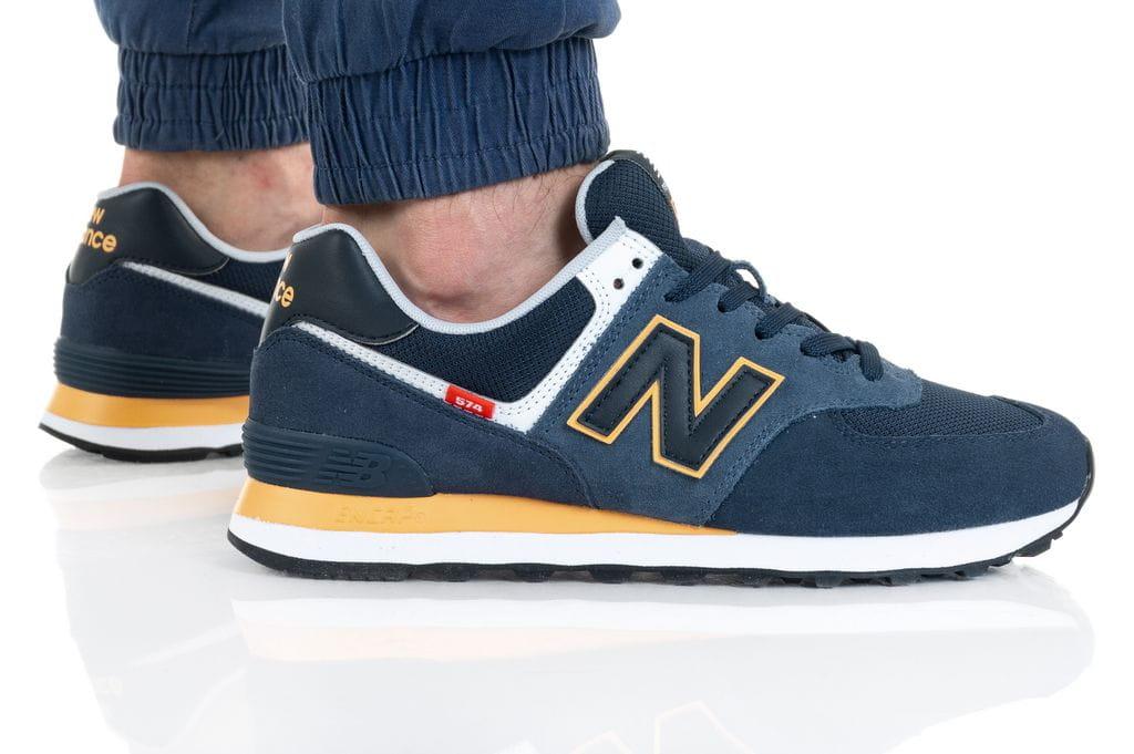 נעלי סניקרס ניו באלאנס לגברים New Balance ML574 - כחול כההצהוב