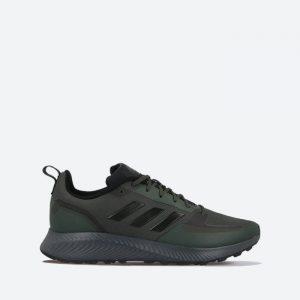 נעלי ריצה אדידס לגברים Adidas Runfalcon 2.0 TR - ירוק כהה