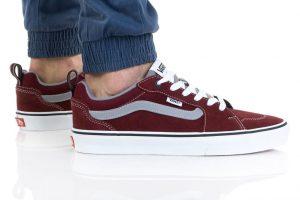 נעלי סניקרס ואנס לגברים Vans Filmore - אפור/אדום