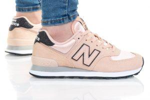 נעלי סניקרס ניו באלאנס לנשים New Balance WL574 - אפרסק