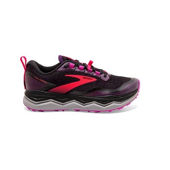 נעלי ריצת שטח ברוקס לנשים Brooks 5 Caldera - צבעוני כהה