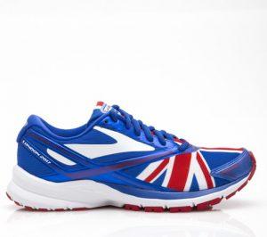נעלי ריצה ברוקס לנשים Brooks Launch 4 London - לבן  כחול  אדום