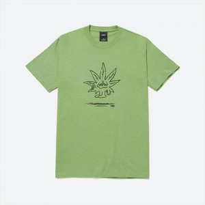 חולצת T HUF לגברים HUF Easy Green - ירוק