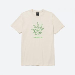 חולצת T HUF לגברים HUF Easy Green - לבן