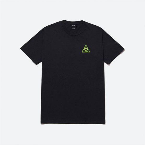 חולצת T HUF לגברים HUF Green Buddy Triple Triangle - שחור