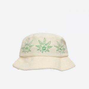 כובע HUF לגברים HUF Green Buddy Terry - לבן/ירוק