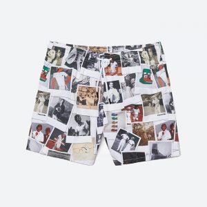 בגד ים לקוסט לגברים LACOSTE x Polaroid Shorts - לבן הדפס