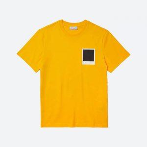 חולצת T לקוסט לגברים LACOSTE x Polaroid - צהוב