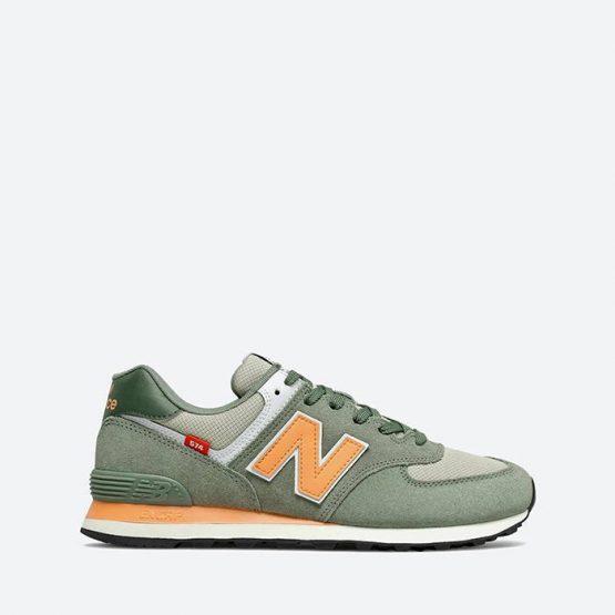 נעלי סניקרס ניו באלאנס לגברים New Balance ML574 - ירוק בהיר