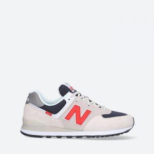 נעלי סניקרס ניו באלאנס לגברים New Balance ML574 - לבן  כחול  אדום