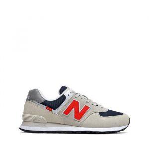 נעלי סניקרס ניו באלאנס לגברים New Balance ML574 - אפור בהיר