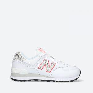 נעלי סניקרס ניו באלאנס לנשים New Balance WL574 - לבן/ורוד