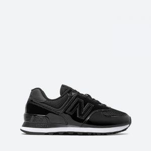 נעלי סניקרס ניו באלאנס לנשים New Balance WL574 - שחור מבריק