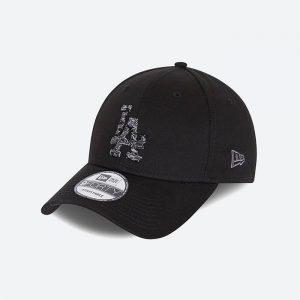 כובע ניו ארה לגברים New Era Los Angeles Camo Infill - שחור
