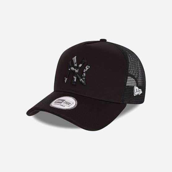 כובע ניו ארה לגברים New Era Camo Infill Trucker New York - שחור