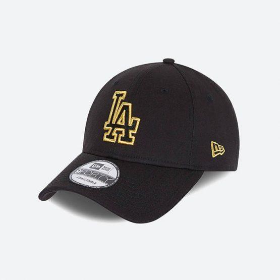 כובע ניו ארה לגברים New Era Los Angeles Dodgers - שחור